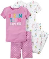 Carter's Girls 4-12 Tops, Shorts & Bottoms Pajama Set