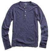Todd Snyder Weathered Henley in Naval Blue