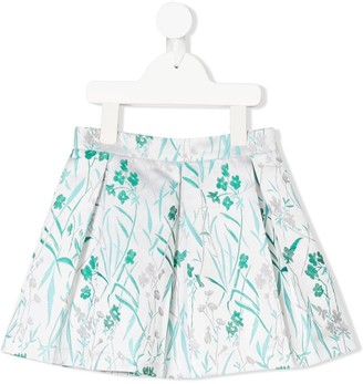 Hucklebones London Pleated Floral Skirt