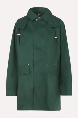 MACKINTOSH Denny Hooded Bonded Cotton Coat - Dark green