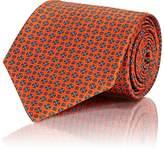 Brioni Men's Medallion-Print Silk Necktie