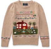 Ralph Lauren 2-6X Schoolhouse Cotton Sweater