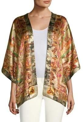 Etro 50th Anniversary Kesa Printed Silk Cardigan