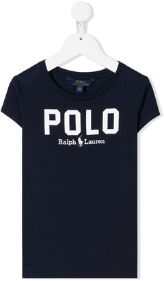 Ralph Lauren Kids crew-neck logo T-shirt