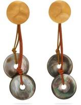 Vanda Jacintho - Wizard Paua-shell Drop Earrings - Womens - Multi