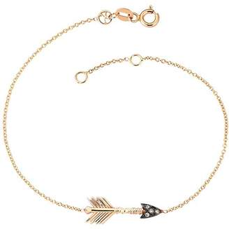 Kismet By Milka 14K Rose Gold Champagne Diamond Arrow Bracelet