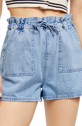 BDG Hazel Paperbag Waist Denim Shorts