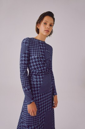 C/Meo RATIONAL DRESS navy houndstooth