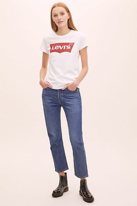 Levi's 501 Cropped Straight-Leg Jeans