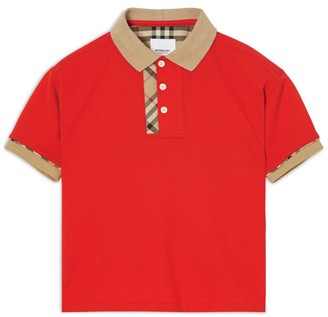 Burberry Kids Vintage Check Trim Polo Shirt (3-12 Years)
