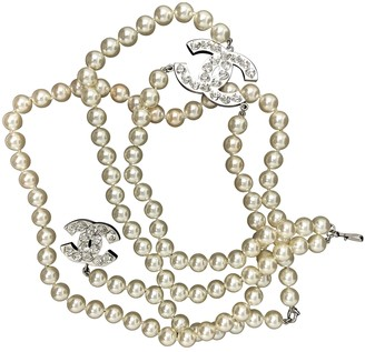 Chanel White Pearls Necklaces