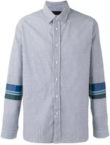 Plac striped panel shirt - men - Cotton - XL