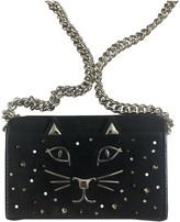 Charlotte Olympia Black Suede Handbags