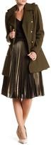Via Spiga Wool Blend Military Coat