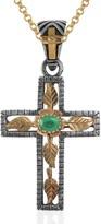 Emma Chapman Jewels Lucia Emerald Gold Cross