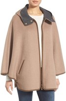 Ellen Tracy Double Face Cape Coat (Regular & Petite)