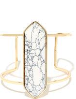 LuLu*s Artistry Gold and White Cuff Bracelet