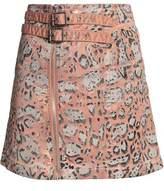 Just Cavalli Leopard-Print Stretch Cotton-Twill Mini Skirt