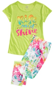 Max & Olivia Big Girls 2-Pc. Rise & Shine Pajamas Set
