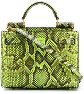 Dolce & Gabbana Snake-Print Leather Handbag
