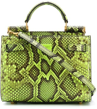 Dolce & Gabbana Snake-Print Leather Handbag