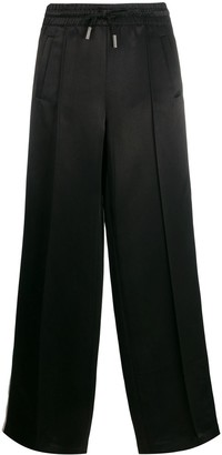 Off-White Logo Stripe Wide-Leg Trousers