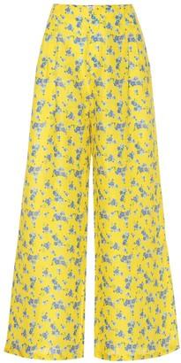 Gül Hürgel Floral linen wide-leg pants