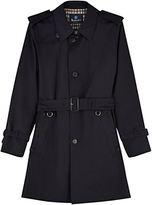 Aquascutum Corby Single Breasted Trench Coat, Navy