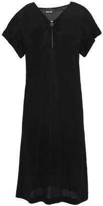 Just Cavalli Ring-embellished Textured-jersey Dress