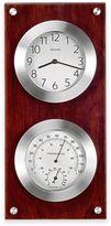 Bulova Mariner Thermometer and Wall Clock in Walnut