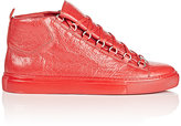 Balenciaga Men's Arena High-Top Sneakers-RED