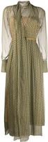Fendi FF Karligraphy asymmetric pleated dress