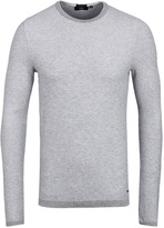 Boss Hamlett Light Grey Marl Slim Fit Crew Neck Sweater