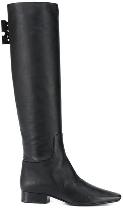 Off-White Knee-Length Boots