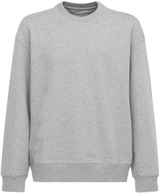 Solid Homme Logo Patch Cotton Sweatshirt