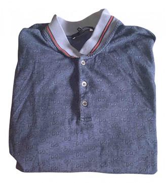 Gucci Blue Cotton Polo shirts