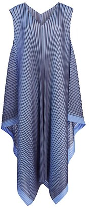 Pleats Please Issey Miyake Alt Bright Sleeveless Pleated Midi Dress