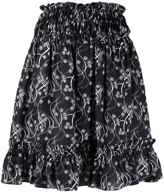 Kenzo smocked waist mini skirt