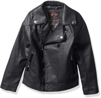 Urban Republic Little Boys' Artsy Faux Leather Azymetrical Moto Jacket