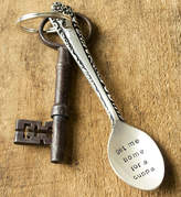 The Cutlery Commission Personalised Silver Plated Spoon Keyring