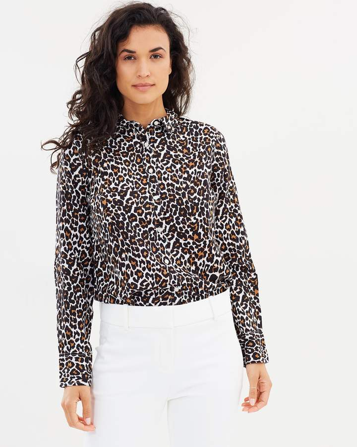 J.Crew Leopard Perfect Shirt
