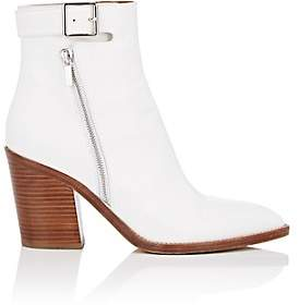 Derek Lam Women's Easton Leather Ankle Boots - White