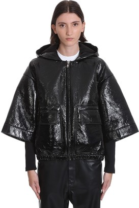 Drkshdw Alex Jkt Cape In Black Cotton