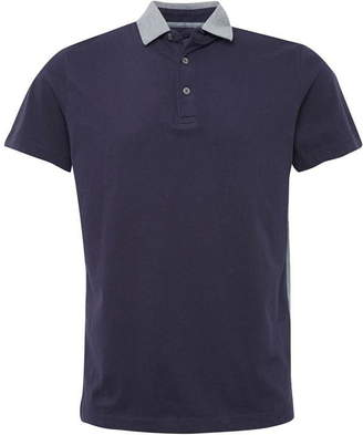French Connection Block Side Panel Cotton Polo Shirt