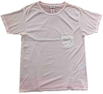 Saint Laurent Pink Cotton T-shirts