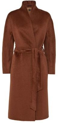 Cinzia Rocca Collarless Kimono Wrap Coat