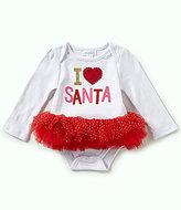 Mud Pie Baby Girls Newborn-12 Months Christmas I Love Santa Tutu Bodysuit