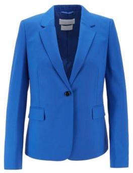 HUGO BOSS Single Breasted Jacket In Traceable Stretch Virgin Wool - Light Blue