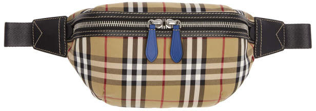 Burberry Yellow and Red Check Fanny Pack