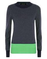 Jaeger Wool Cashmere Stripe Sweater